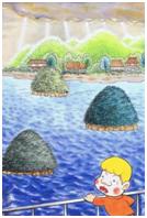 ▲「はじめて見た日本は箱庭みたいにきれいだった」 作者:赤塚 不二夫氏 (漫画家)